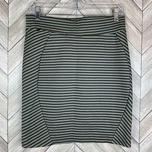 Toad & Co Transita stretch skirt moss stripe